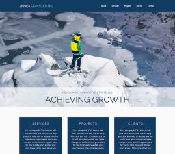 HTML 5 web site template