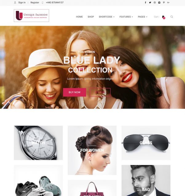 Website - WordPress retail - fashion