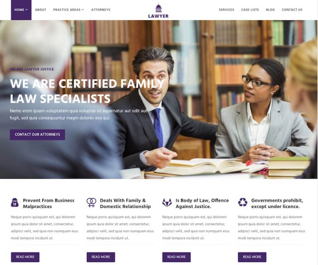 WordPress Lawyer theme